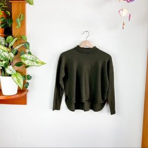Madewell Olive Mock Turtle Neck Crop Sweater M